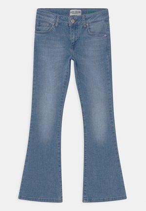 VERONIQUE - Bootcut jeans - light-blue denim