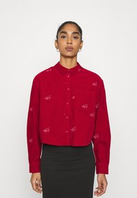 Tommy Jeans - CRITTER  - Button-down blouse - wine red - 0
