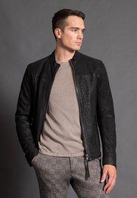 Tigha - WILSON  - Leather jacket - black - 1