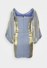 Glamorous Petite - LADIES DRESS METALLIC - Cocktail dress / Party dress - blue/gold - 1