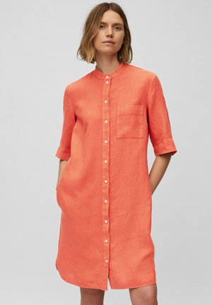 Shirt dress - burnt orange
