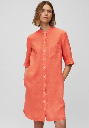 Sukienka koszulowa - burnt orange