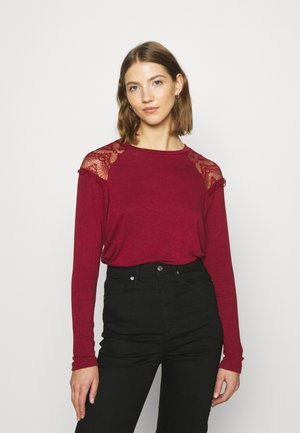 ONLKIRA MIX - Long sleeved top - pomegranate