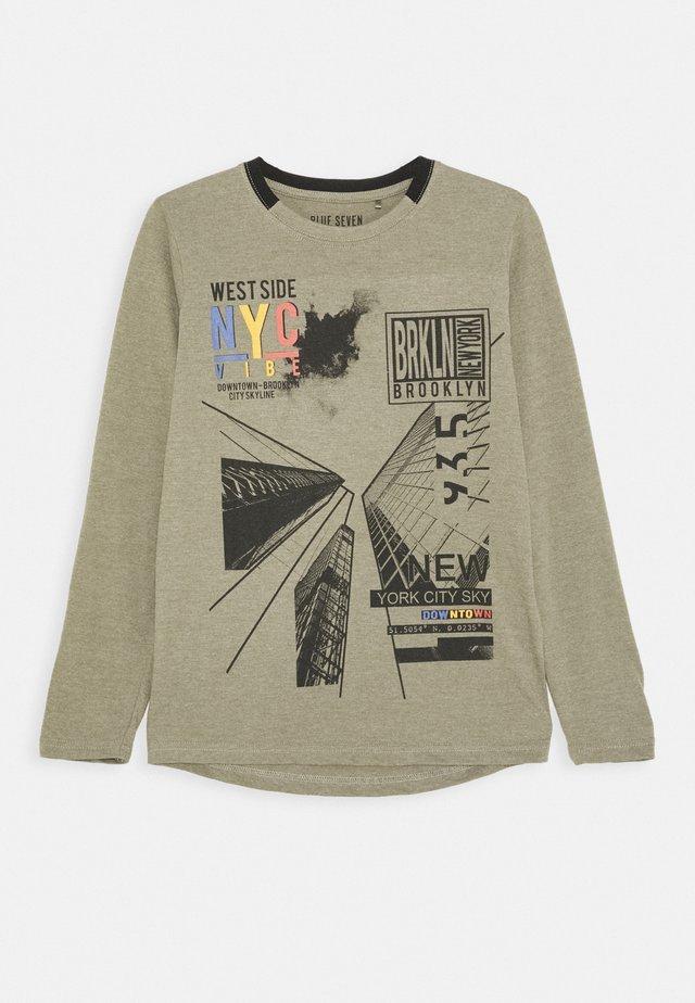 RUNDHALS - T-shirt à manches longues - khaki
