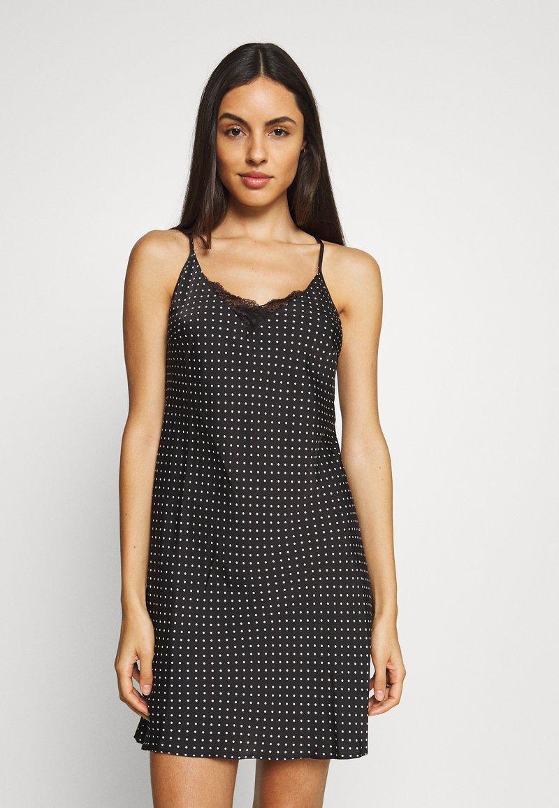 Marks & Spencer London - CHEMISE SPOT CHEMIS - Noční košile - black