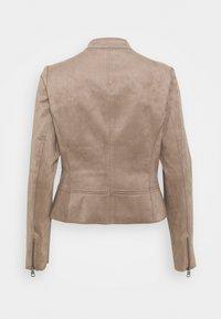 Esprit - BIKER - Faux leather jacket - taupe - 1
