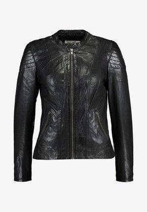 CLIM - Veste en cuir - black