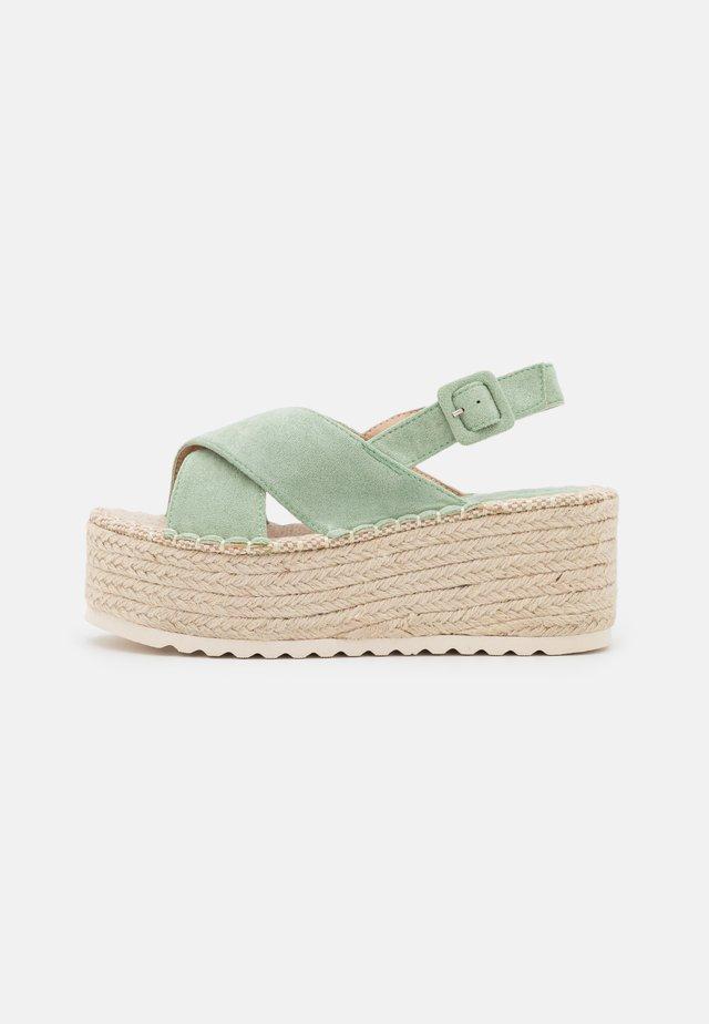 Sandalen met plateauzool - verde