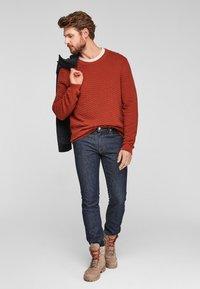 s.Oliver - SLIM: SLIM LEG - Slim fit jeans - dark blue - 1