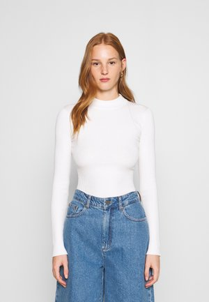 MIXED RIB JUMPER - Strikkegenser - off-white