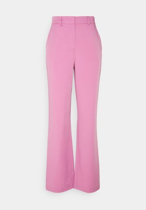 VISALLY TAILORED WIDE PANTS - Pantalon classique - diva pink