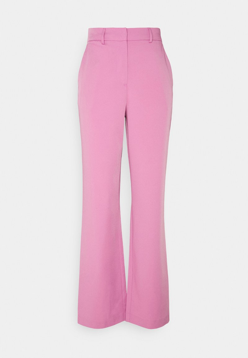 Vila - VISALLY TAILORED WIDE PANTS - Trousers - diva pink