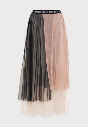 GONNA - Áčková sukně - nue/nero