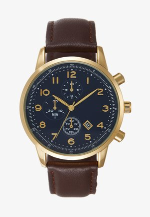 LEATHER - Watch - cognac
