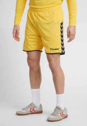 HMLAUTHENTIC  - Korte sportsbukser - yellow/black
