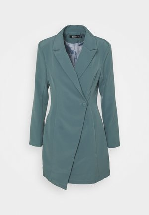 STRUCTURED TAILORED DRESS - Shift dress - teal