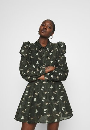 LEONI - Shirt dress - dark olive
