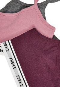Next - BERRY/GREY 3 PACK CROP TOPS (OLDER) - Bustier - pink - 5