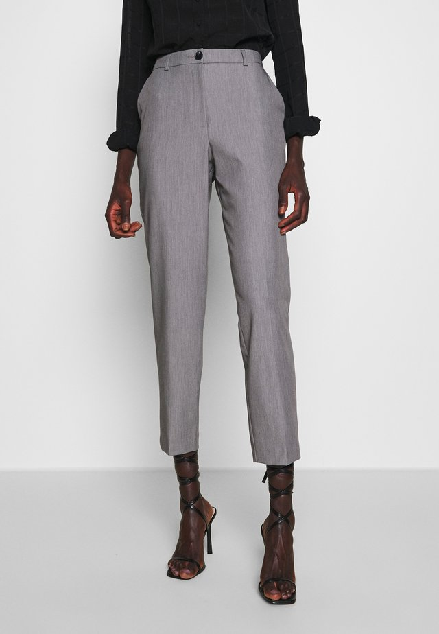ANKLE GRAZER - Trousers - grey marl