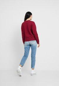 Calvin Klein Jeans - MONOGRAM OVERSIZED - Sweatshirt - beet red - 2