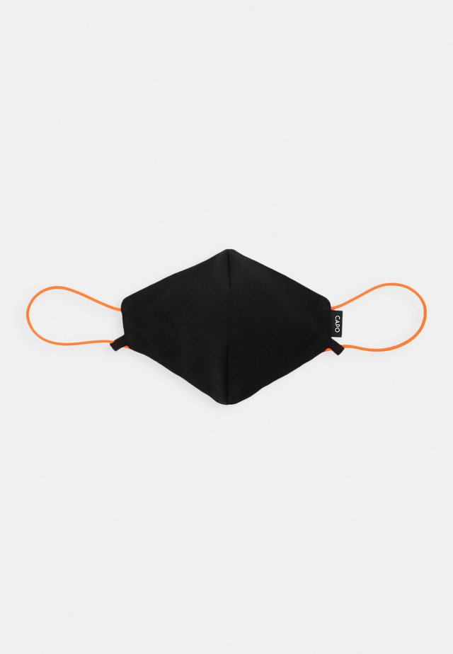 HANGING ON ADJUSTABLE STRING MASK UNISEX - Látková maska - black/pumpkin