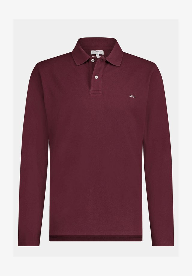 REGULAR FIT PIQUE LONGSLEEVE - Poloshirt - port red