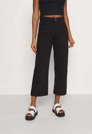 NMAMANDA WIDE - Relaxed fit jeans - black denim