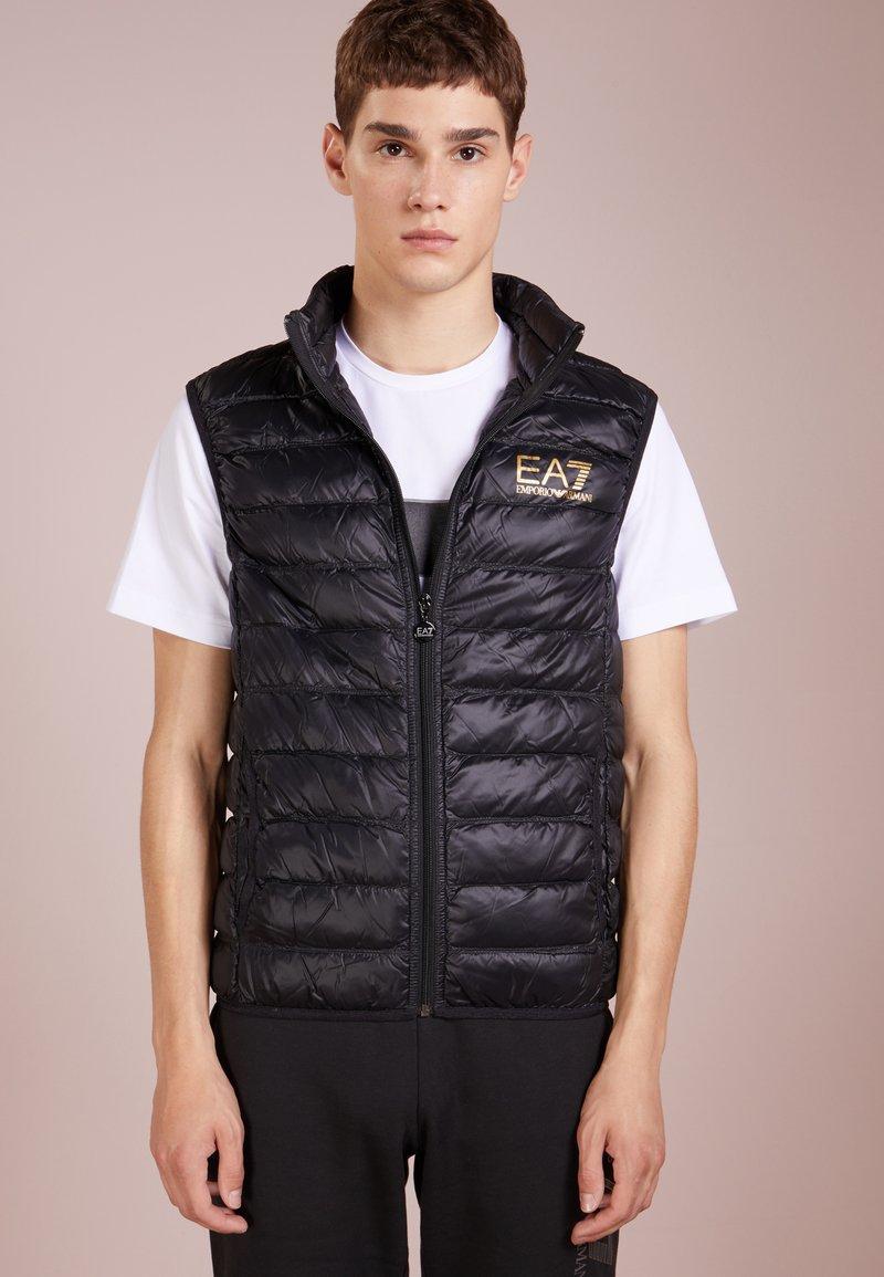 EA7 Emporio Armani - JACKET VEST - Waistcoat - black