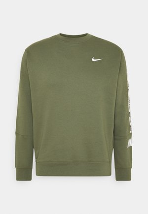 REPEAT CREW - Sweatshirt - medium olive/white