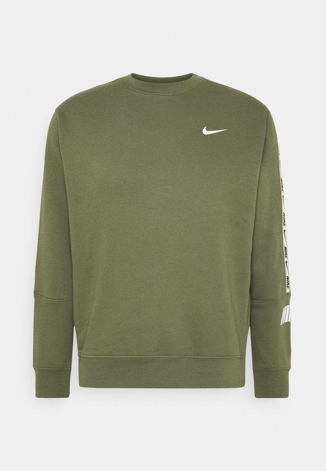 REPEAT CREW - Sweater - medium olive/white