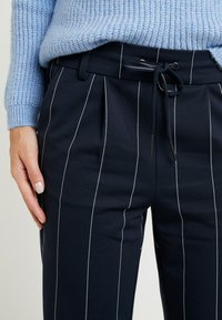 ONLY Petite - ONLPOPTRASH TEMPO STRIPE PANT - Trousers - night sky - 6