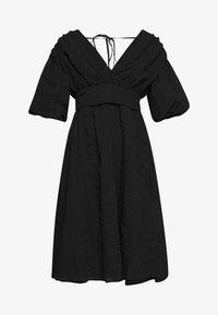 VOLUME SLEEVE SKIRTED DRESS - Day dress - black