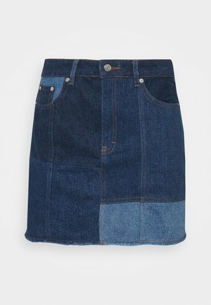 Mini skirt - blue denim