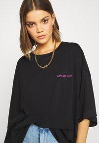 Weekday - HUGE DRESS - Jerseykjole - black - 3