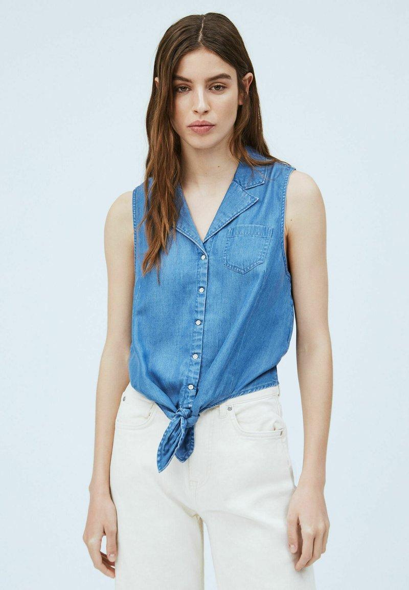 Pepe Jeans - BAY - Button-down blouse - denim