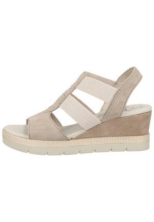 Wedge sandals - grey 200