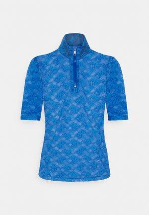 HALF ZIP TEE - Blouse - blue