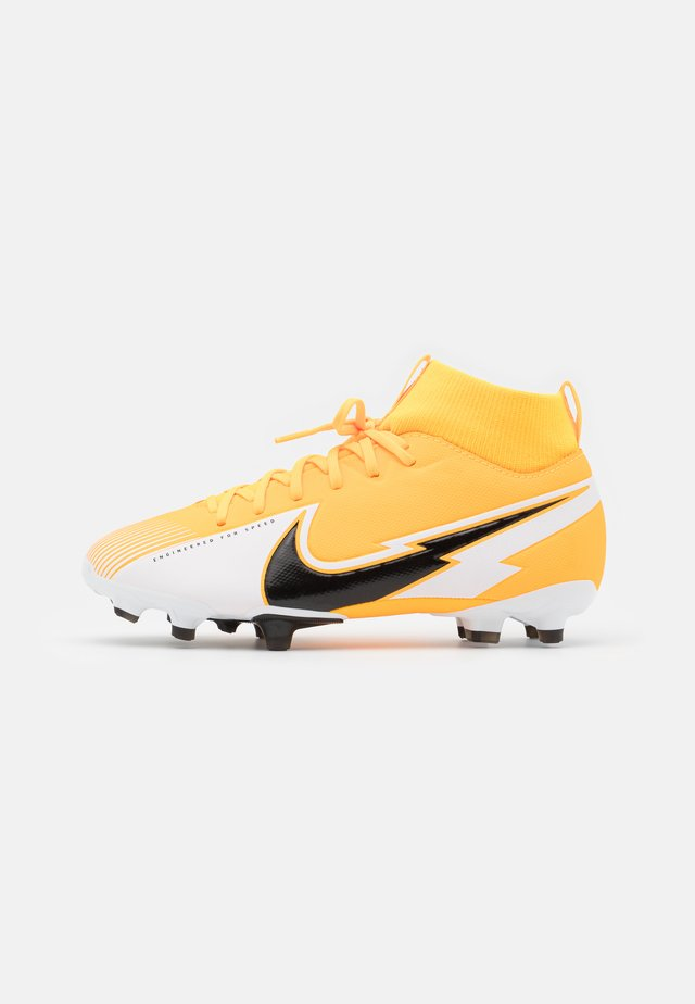 MERCURIAL JR 7 ACADEMY FG/MG UNISEX - Chaussures de foot à crampons - laser orange/black/white