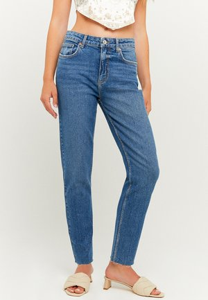 HIGH WAIST CROPPED STRAIGHT - Slim fit jeans - blu