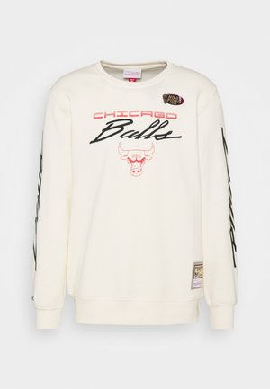 NBA CHICAGO BULLS FLAMES RACING CREWNECK - Club wear - beige/khaki/off white