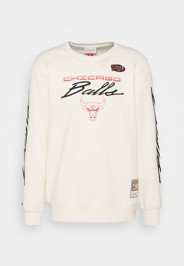 NBA CHICAGO BULLS FLAMES RACING CREWNECK - Klubbkläder - beige/khaki/off white