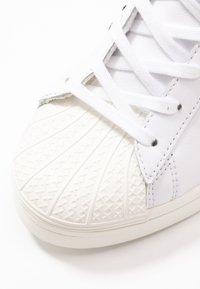 adidas Originals - SUPERSTAR ELLURE - High-top trainers - footwear white/core black/offwhite - 3