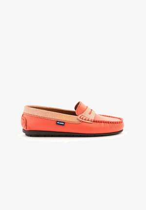 Moccasins - coral