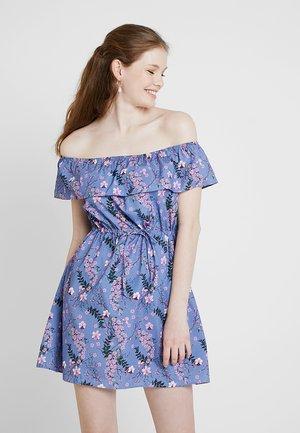 FLORAL BARDOT DRESS - Day dress - purple
