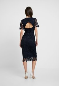 Missguided - CROCHET OPEN BACK MIDI DRESS - Cocktail dress / Party dress - dark blue - 3
