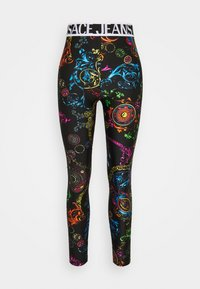 Versace Jeans Couture - Leggings - Trousers - black/multi coloured - 4