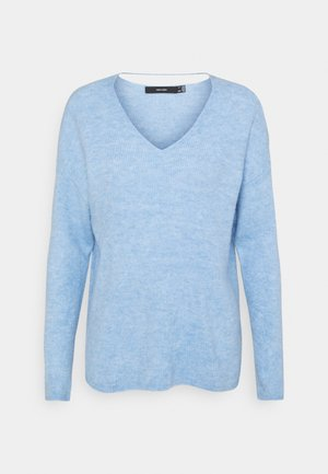 VMCREWLEFILE V NECK - Jumper - placid blue melange
