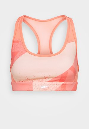 LUX RACER BRA - Medium support sports bra - twisted coral