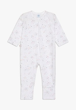 OVERALL LONG ALLOVER BABY - Pyžamo - white