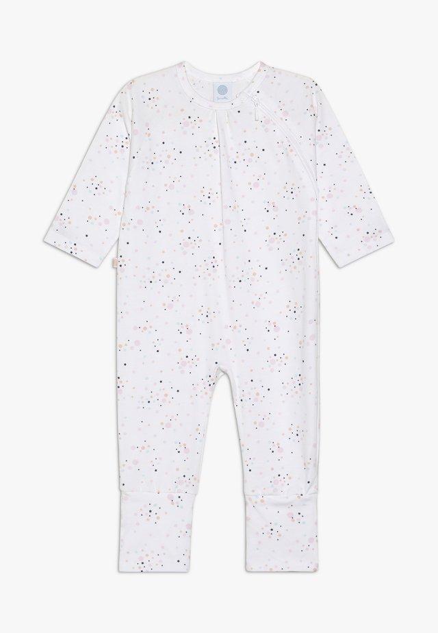 OVERALL LONG ALLOVER BABY - Pyjamas - white